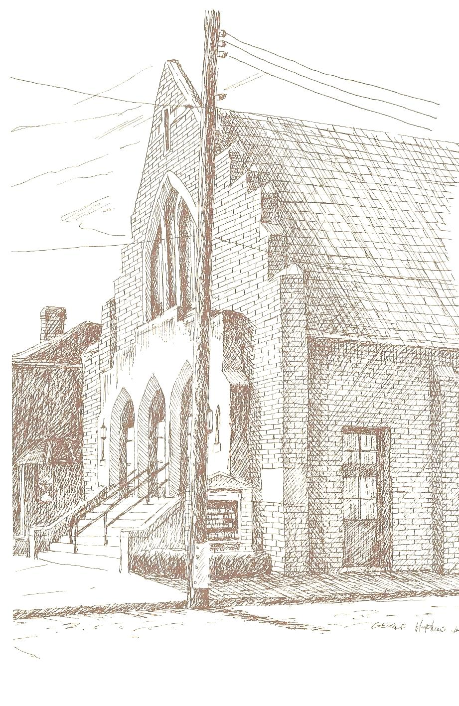 Historical church sketches quinn ame church